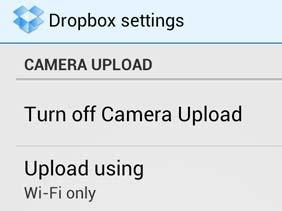 dropbox-wifi upload only
