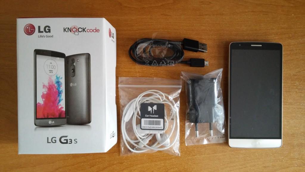 LG G3 S pakovanje