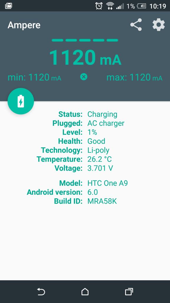 HTC One A9 - Punjenje baterije