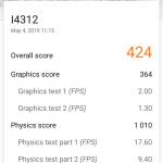 Xperia L3 recenzija 3DMark